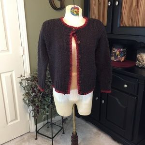 💥 Relais Knitwear  Brown Chunky Knit Sweater Sz 2